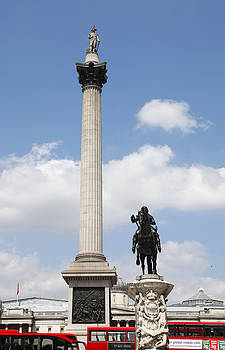 Nelson's Column Trafalgar Square London by Mark Richardson