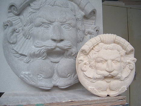 Neptun head for fountain by Memo Memovic