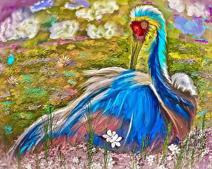 Nesting Crane by Jill Balsam