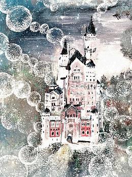 Neuschwanstein and bubbles by Milenka Delic