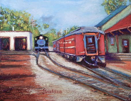 New Hope Train Stop by Joyce A Guariglia