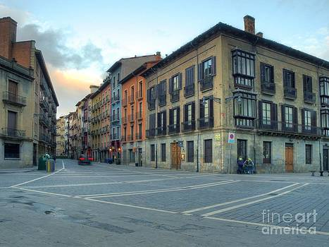 New Street in Pamplona by Alfredo Rodriguez