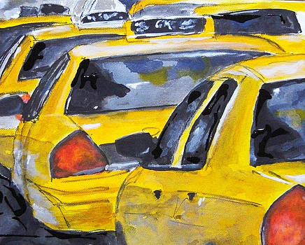New York Cabs by Romina Diaz-Brarda