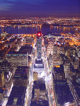 New York City At Night by by Sathish Jothikumar