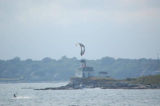 Newport RI Kitesurfing by Mary McAvoy