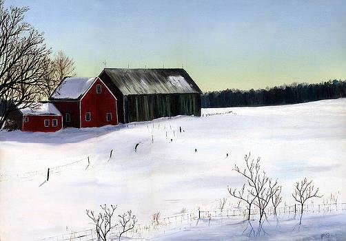 N.H. Barn Winter by Paul Gardner