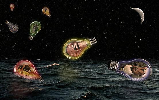 Night Bulbs  by Mark Ashkenazi