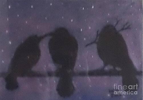 Night crows by Maria Elena Gonzalez