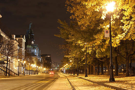 Night Fall In Old Montreal by Charles Dancik