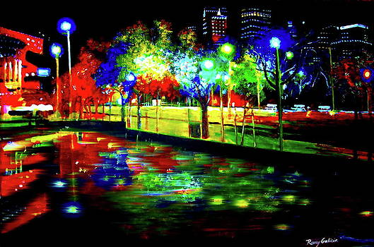 Night Light Reflections by Romy Galicia
