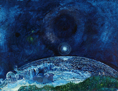 Night Sky with Sea by Anne Eaton Parker