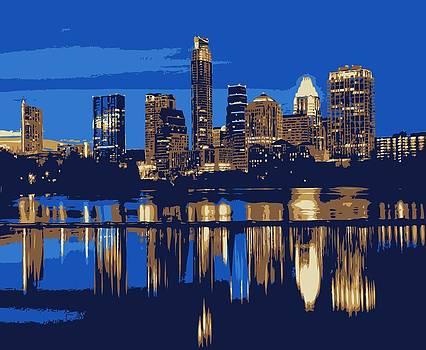 Night Skyline Color 6 by Scott Kelley
