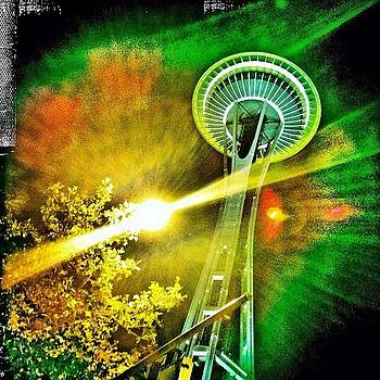 Night Time at The Space Needle by Chris Fabregas