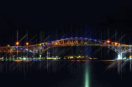 Night time Bridges by Cheryl Cencich