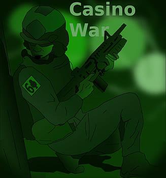 Night Vision Casino War Warrior by Casino Artist