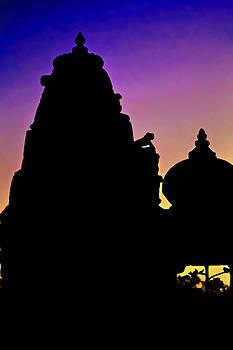 Kantilal Patel - Nightfall Silhouette Jain Hindu
