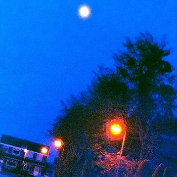 #nighttime #moon #lights by Orla O'Neill