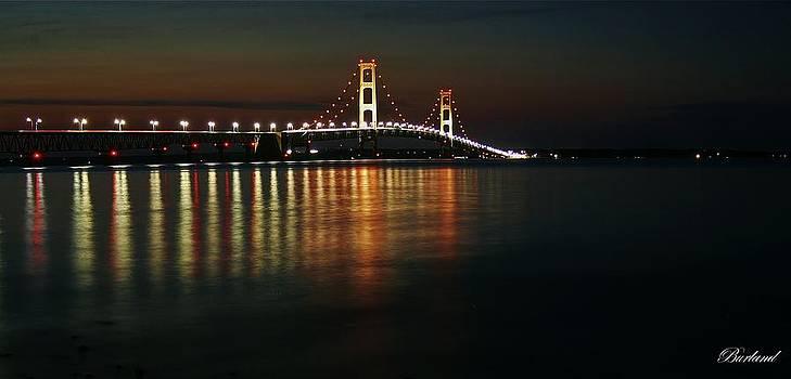 Nighttime Over Mackinac Straits by Burland McCormick