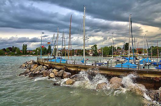 Nonnenhorn Harbor by Alexander Elzinga
