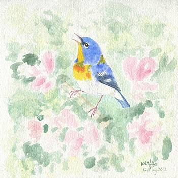 Northern parula by Wenfei Tong