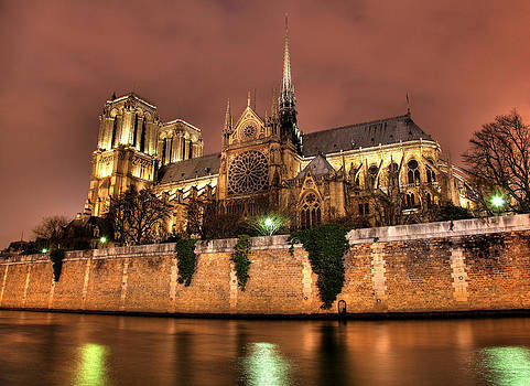 Notre Dame at Night by Wyatt Rivard
