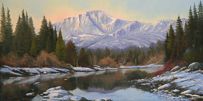 November Reflections - Pikes Peak   111101-1224 by Kenneth Shanika