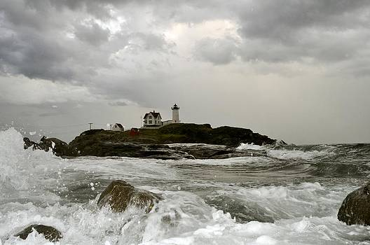 Nubble Lighthouse in the thick by Rick Frost