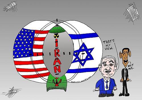 Nuclear Iran Cartoon by Yasha Harari