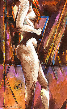 Ion vincent DAnu - Nude Anna Side View