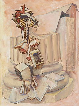 Nude Ascending a Staircase by Roger Clark