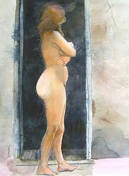 Nude at doorway by Richard Yoakam