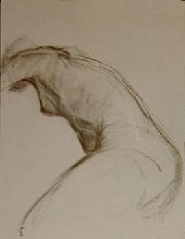 Nude Bending Right by Nancy Berkan
