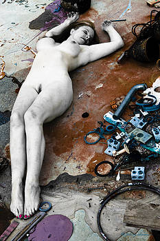 Nude female with rubble by Johnny Sandaire