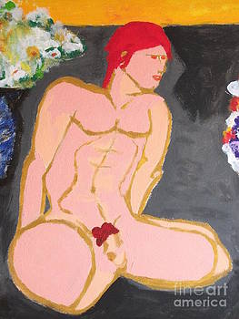 Nude Male with Red Hair by JR Leveroni