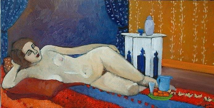 Nude on Orange by Terri Jordan