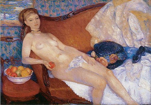 William Glackens - Nude with Apple