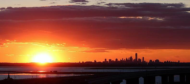 NYC Sunset by Rita Tortorelli
