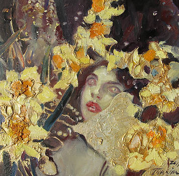 Nymph with Narcissus   by Svetlana Tiourina