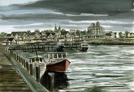 Oak Bluffs Harbor evening by Paul Gardner