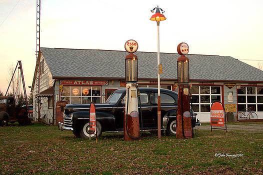 Oakdale Garage at Dusk by Jale Fancey