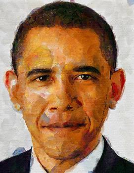 Obama face by Boguslaw Florjan