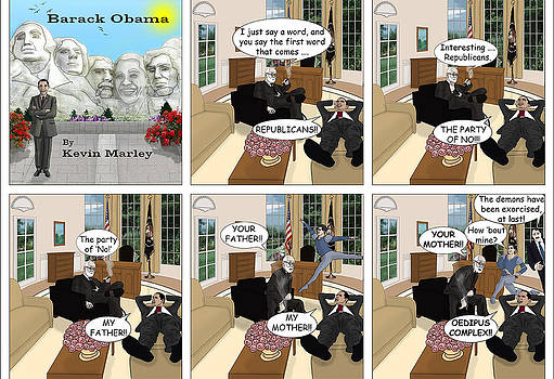 Obama N Freud II by Kevin  Marley