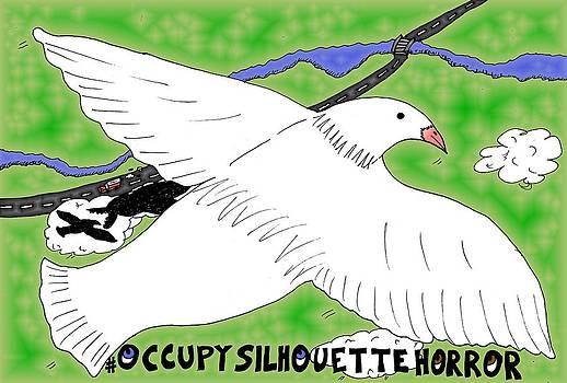 Occupy Silhouette Horror Cartoon by Yasha Harari