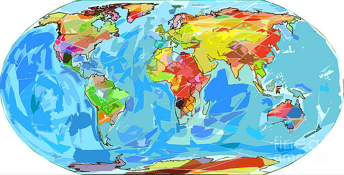 David Lloyd Glover - Ocean Currents World Map