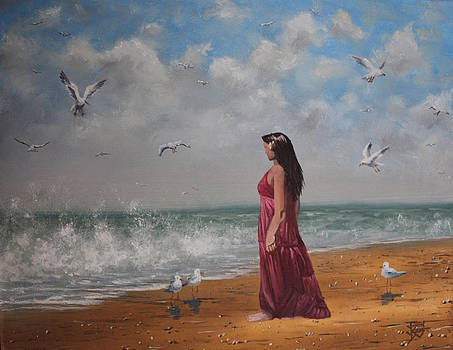 Ocean Lookout by Justin  Dobbs