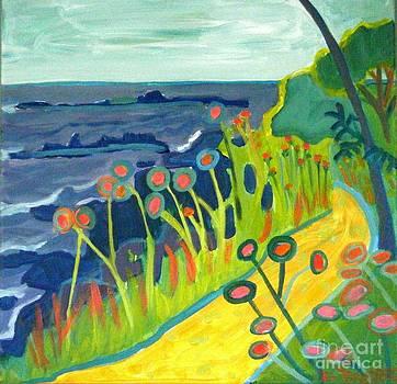 Ocean Path Kittery Maine by Debra Bretton Robinson