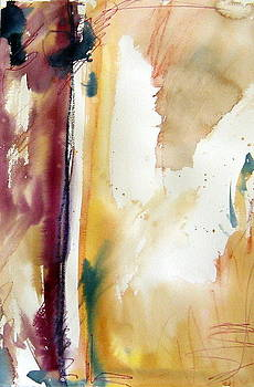 Ocher Abstract by Rachel Dutton