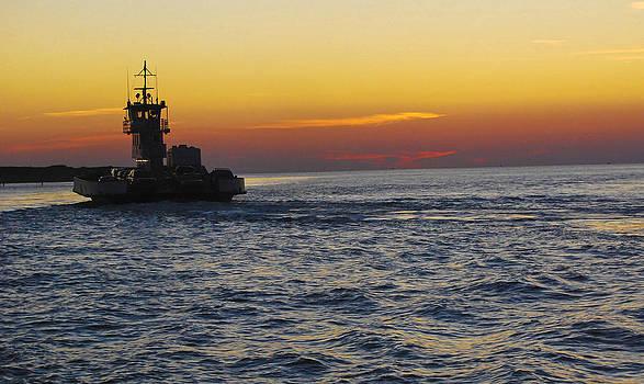 Ocracoke Island Ferry by Peggie Strachan