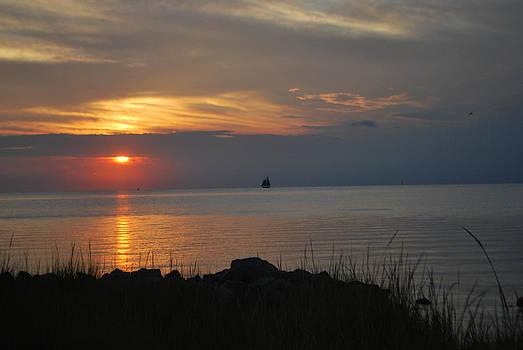 Ocracoke Sunset by Julie Strickland