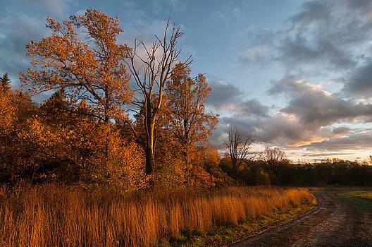 October sunset by Konstantin Gushcha